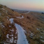 """I'm on the """"Rabbit Run"""" trail here looking south on the ridge."""