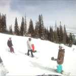 Skiing and riding at JH