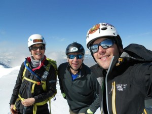 Deb, Cody and Tom on summit of LRP