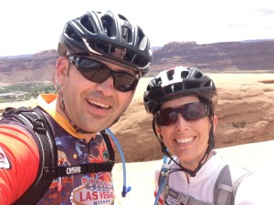 Chris and Jenn Paris' Moab selfie.